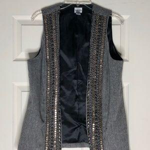 Chico's tweed embellished vest